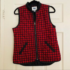 Old Navy Buffalo Plaid Quilted Vest